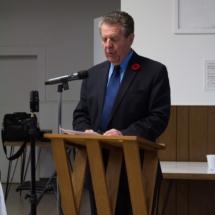 Mr. Allan Garneau (Chair) introducing the guest speaker